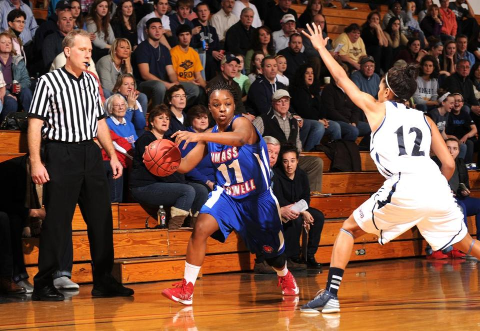 "Bianca Simmons is ""the best Division 2 point guard in the country,"" says her UMass Lowell coach, Sarah Behn."
