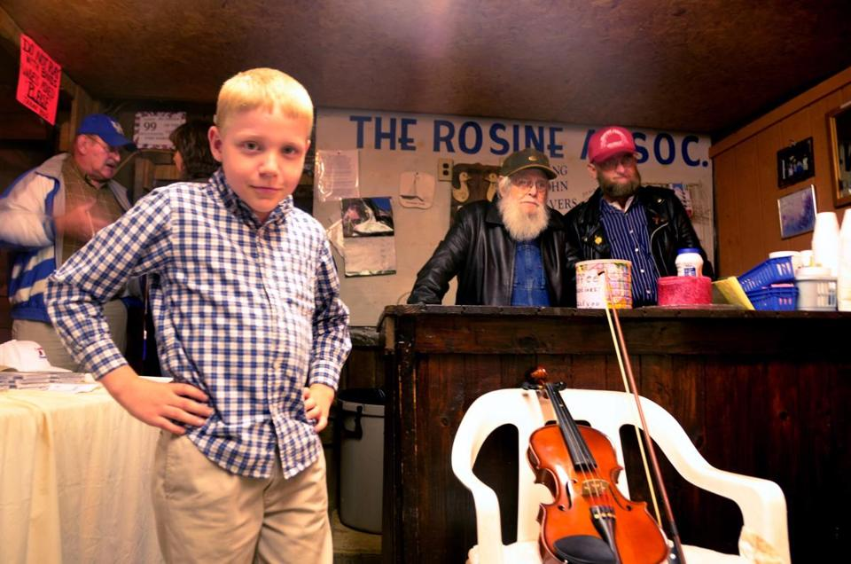 A jamboree is held every Friday night in Rosine, Ky., in a barn where Bill Monroe once played his bluegrass. Jarrod Carathers, 10, comes to play his fiddle.