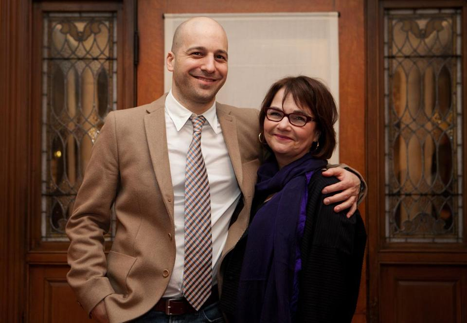 Christopher Castellani and Randy Susan Meyers at Brookline Booksmith on Tuesday night.