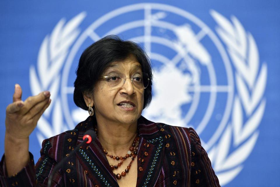 Navi Pillay, UN high commissioner for human rights, is seeking an inquiry on human rights abuses.