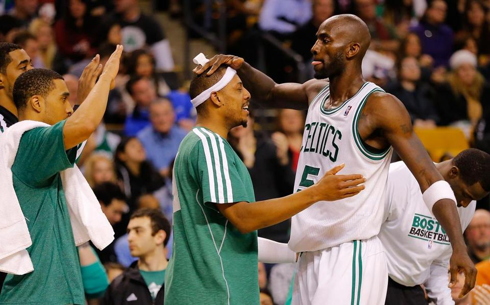 Paul Pierce, Kevin Garnett and the Celtics went into the All-Star break four games over .500.
