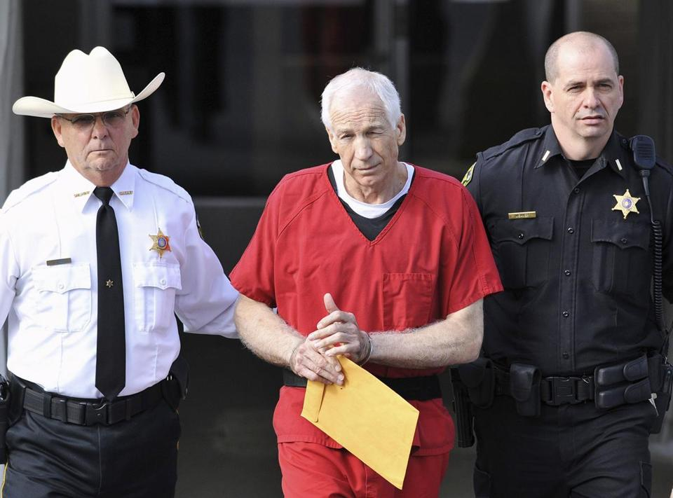 The spotlight on the Penn State sex abuse scandal, perpetrated by Jerry Sandusky (above, in October), may have served to help other victims come forward.