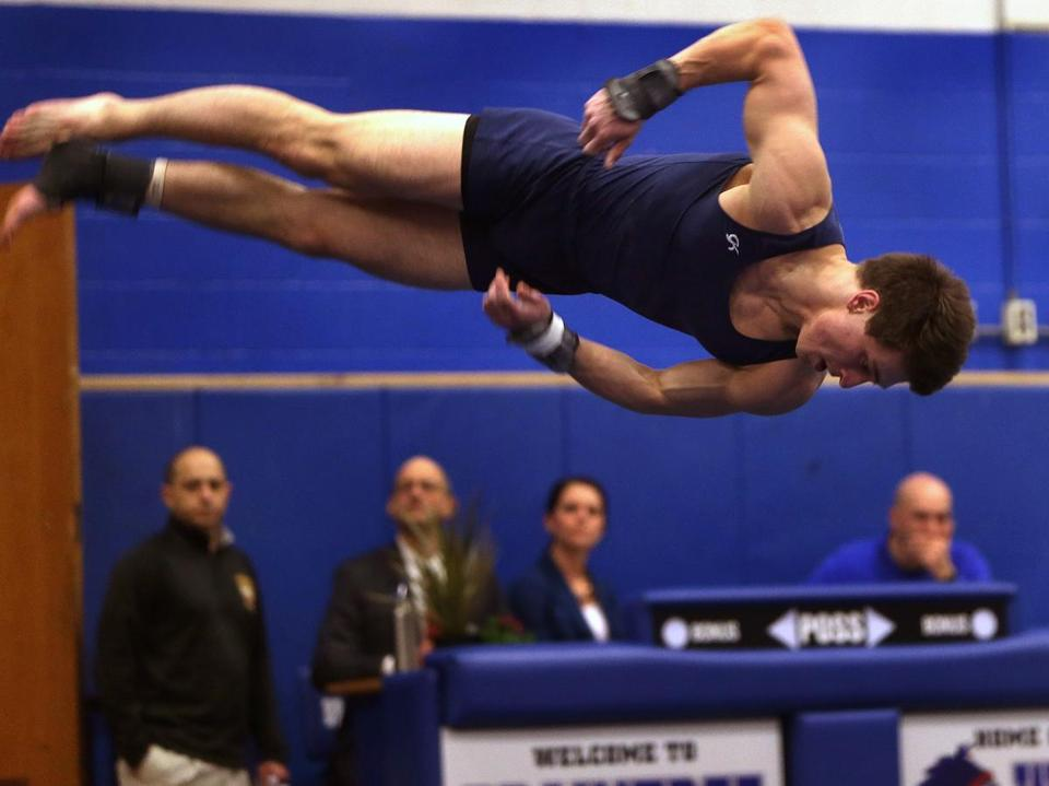 Andover's Brian Manning came out on top in the floor exercise, and every other event.