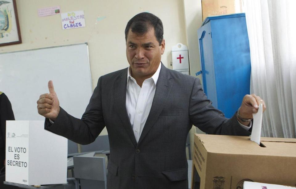 """This victory is yours,'' Rafael Correa told supporters."
