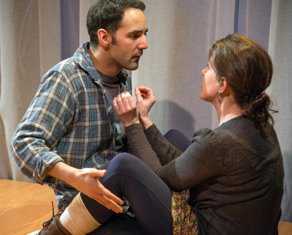 "Nael Nacer and Liz Hayes play M and W, respectively, the only two characters on stage in Duncan Macmillan's ""Lungs."""