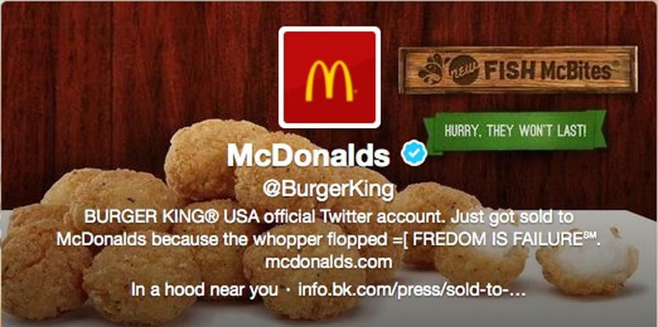 McDonald's sympathized with Burger King's situation but noted it had nothing to do with its logo being on BK's site.