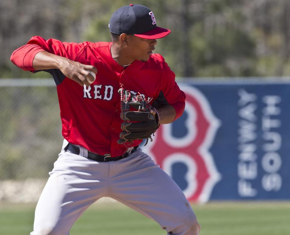 Portland shortstop Xander Bogaerts (.310 batting average) could be off to Pawtucket soon.