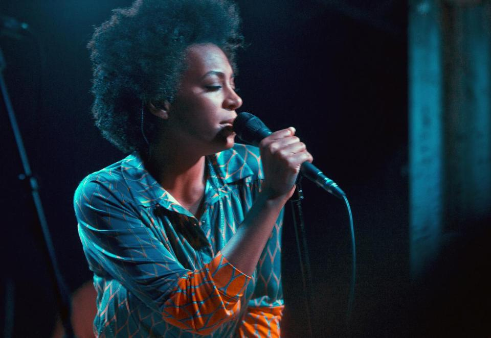 Solange (pictured performing in London last month) sold out the Paradise Rock Club Tuesday.