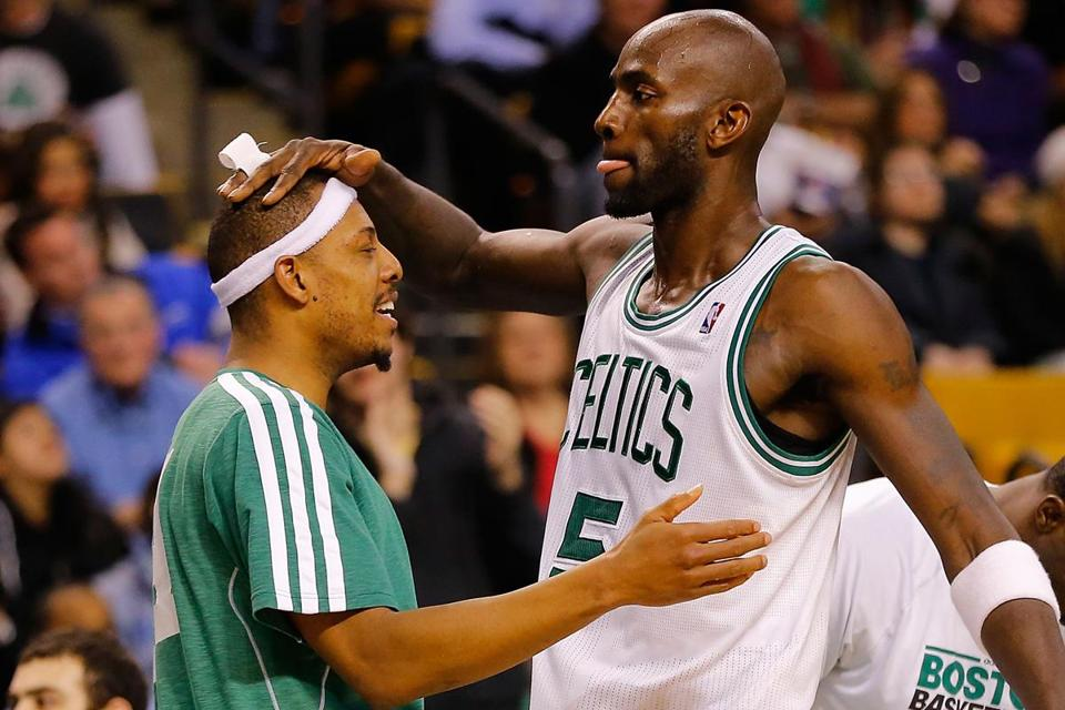 Celtics stars Paul Pierce and Kevin Garnett