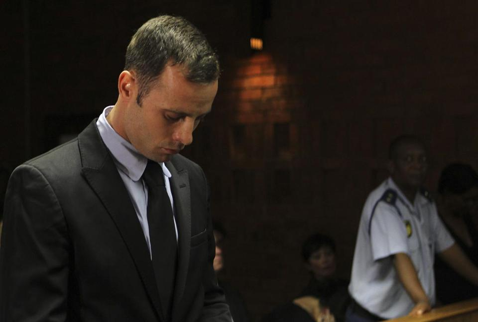 Olympic athlete Oscar Pistorius is charged with premeditated murder for the Valentine's Day shooting death of girlfriend Reeva Steenkamp with a 9 mm pistol.