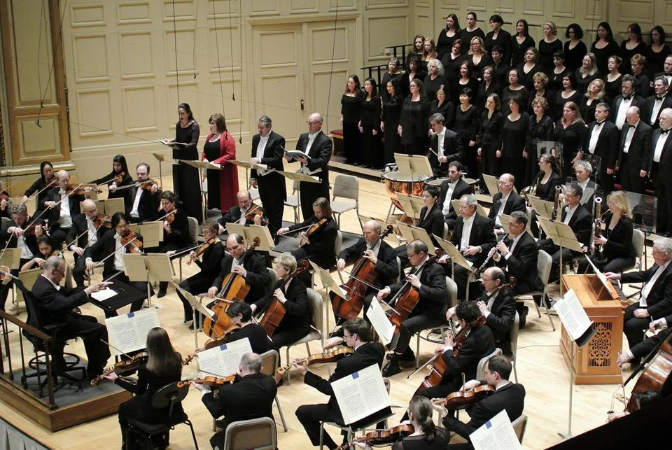 At Symphony Hall, Fruhbeck de Burgos conducted from a chair during Thursday's BSO concert with the Tanglewood Festival Chorus.