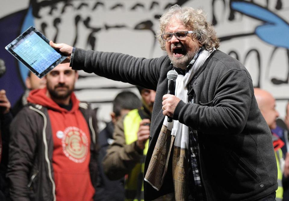 "Beppe Grillo wrapped up his ""Tsunami Tour"" on Friday with a rally on the Piazza San Giovanni in Rome."