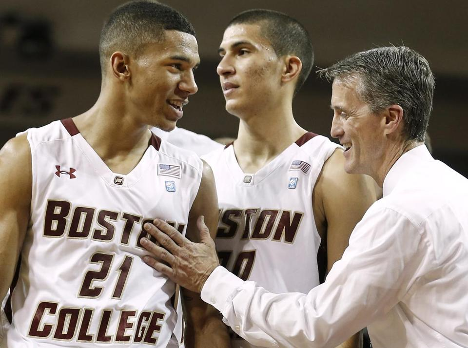 Boston College coach Steve Donahue and young players such as Olivier Hanlan will visit Duke Sunday.