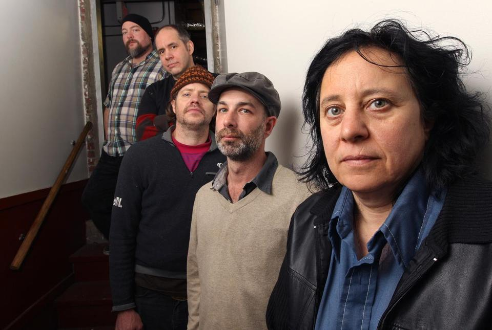 Thalia Zedek (right) and her band (from left): Dave Norton, David Michael Curry, Winston Braman, Mel Lederman.