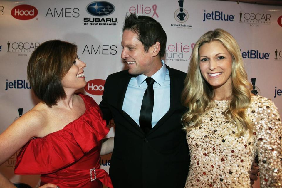 From left: Kelley Tuthill, Chris Lambton, and his wife, Peyton Wright, at the Ellie Fund Oscar gala.