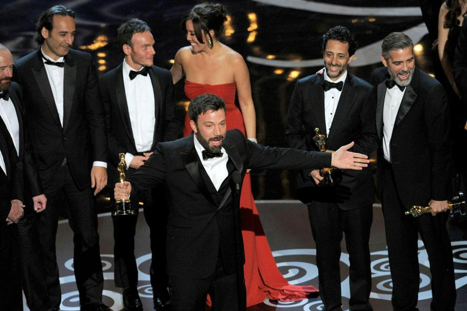 "Ben Affleck celebrated Sunday night after ""Argo"" was named best picture at the 85th Academy Awards."