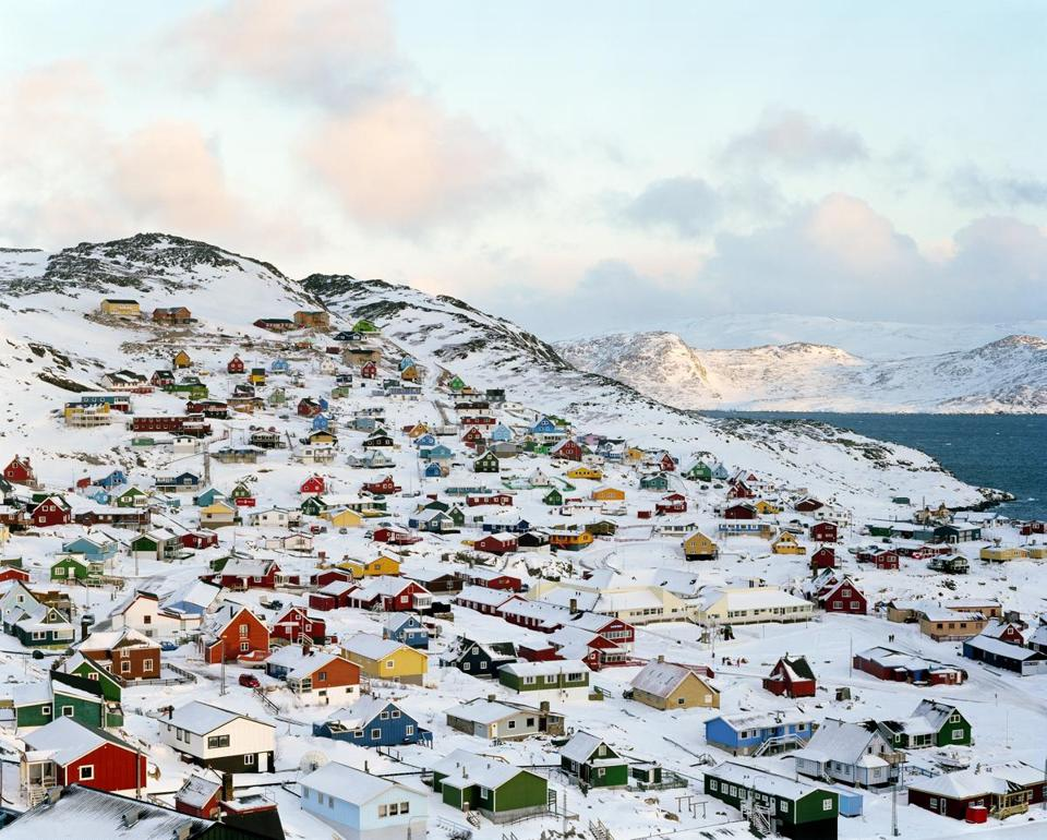 """Qaqortoq, Greenland"" is from a series of images Joël Tettamanti made there in 2004."