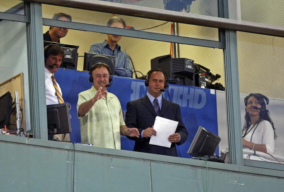 Jerry Remy (foreground left) will be reunited with broadcast partner Don Orsillo Tuesday.