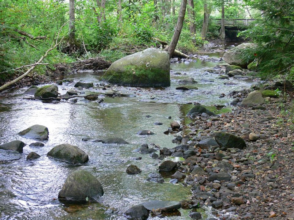 The Scantic River feeds the Laughing Brook Wildlife Sanctuary.