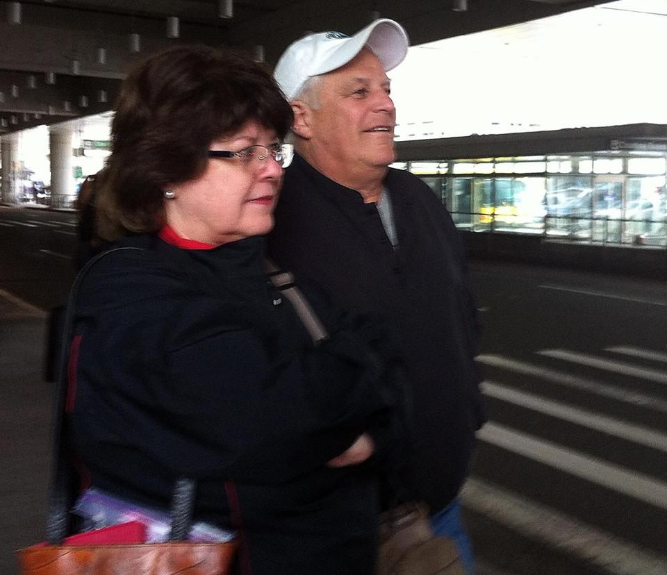 Gennaro Ruocco, who picked up wife, Nancy, at Logan Saturday, said the anticipated cuts won't affect his travels.