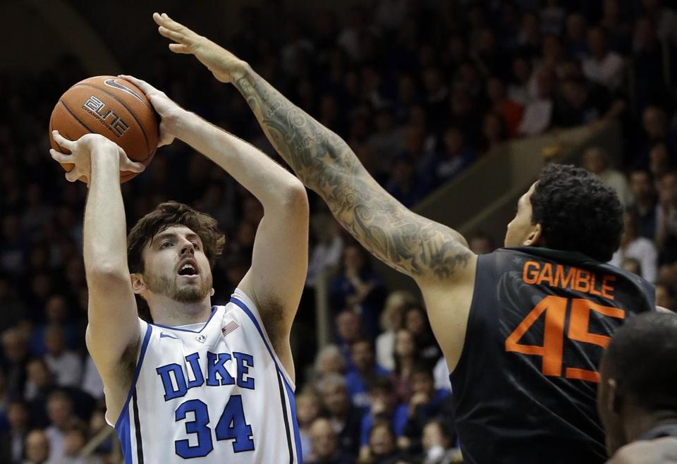 After missing 13 games with a foot injury, Ryan Kelly returned to lead Duke past Miami.