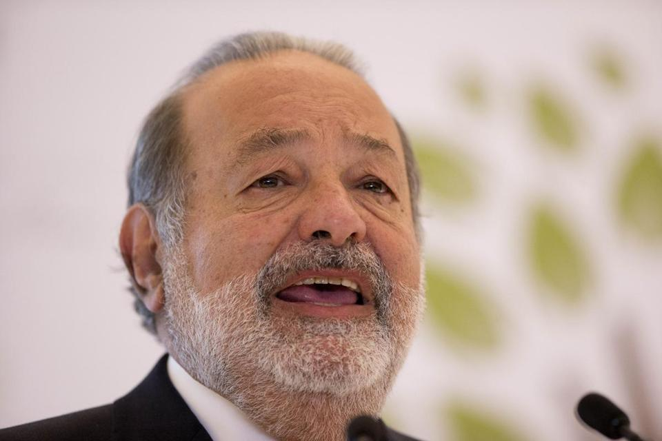 Carlos Slim's net worth increased to $73 billion, keeping him atop the Forbes list.