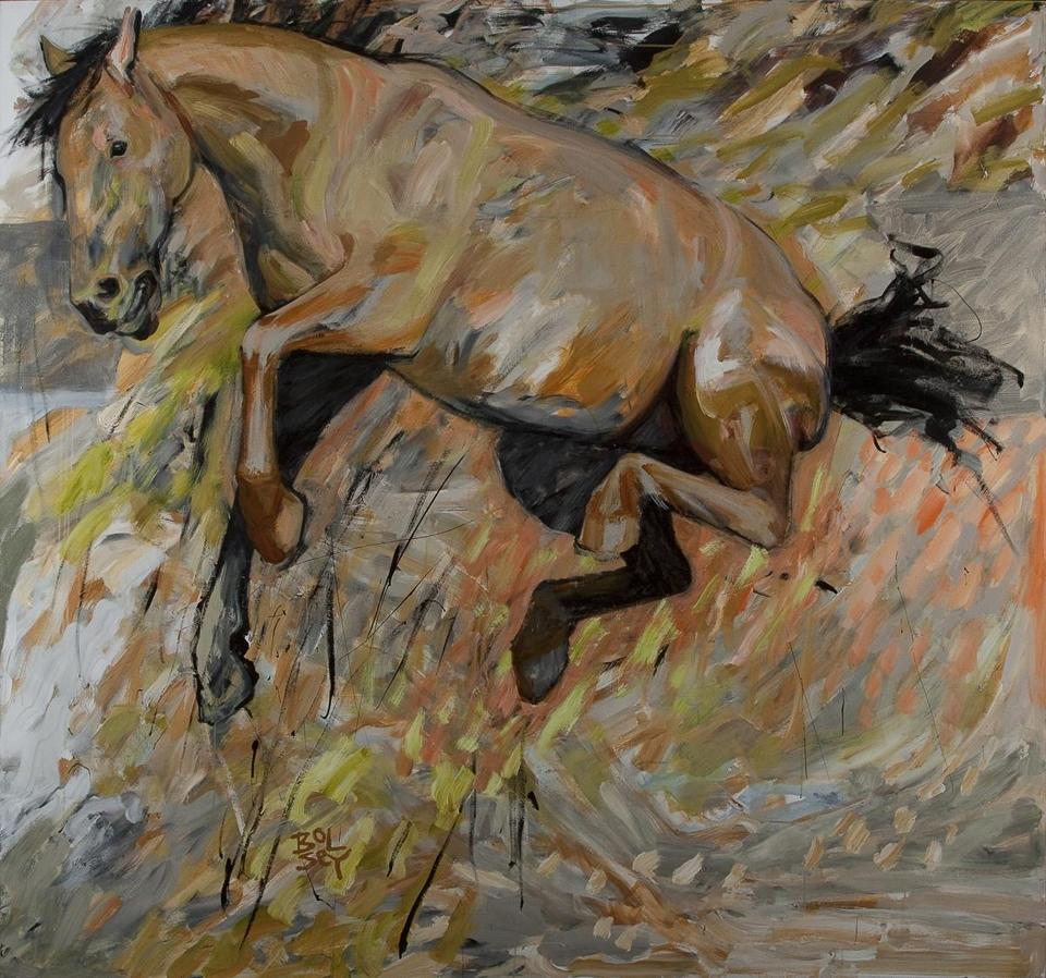 """High-Horse,'' part of the South Shore Art Center show ""Levitations/Horsing Around.''"