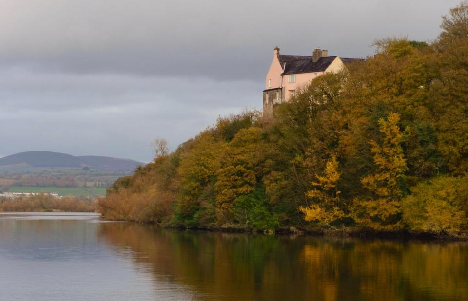 Dromana House, seen from across the River Blackwater.