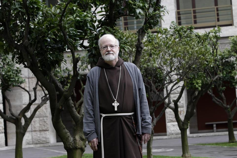 Cardinal Sean Patrick O'Malley was photographed in Rome on Tuesday.