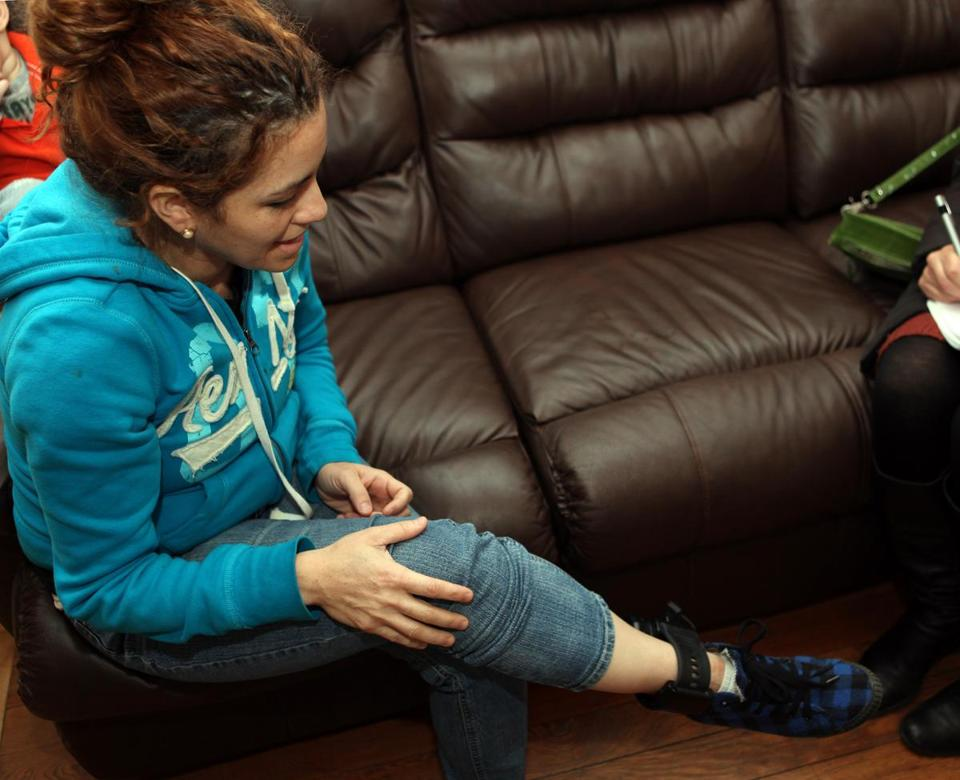Norma Urbina, who was featured in a Globe article, had been forced to wear an ankle monitor for more than a year after being caught in a raid in New Bedford.