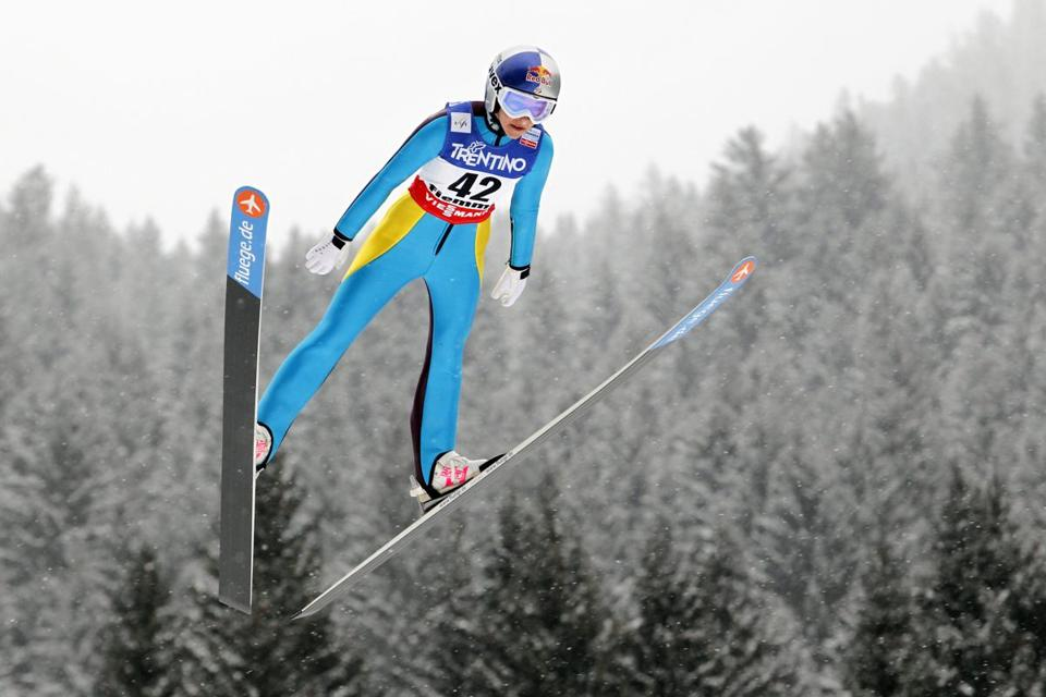 Sarah Hendrickson, the soaring 18-year-old, won the women's jumping title and will be favored to take the inaugural Games crown.