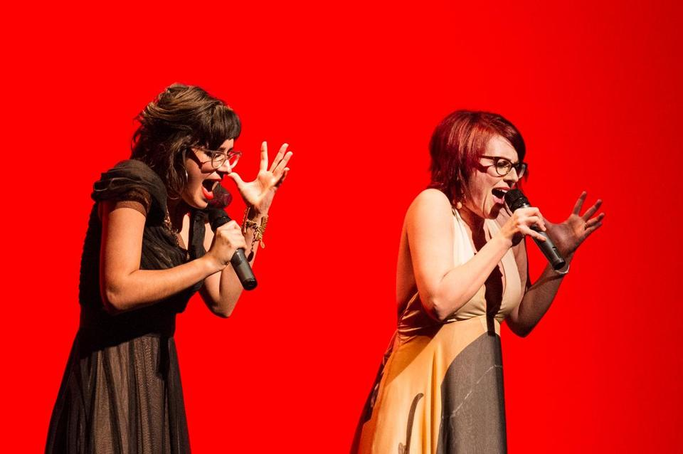 Stephanie Hunt (left) and Megan Mullally are Nancy and Beth, a band the two actresses only recently formed.