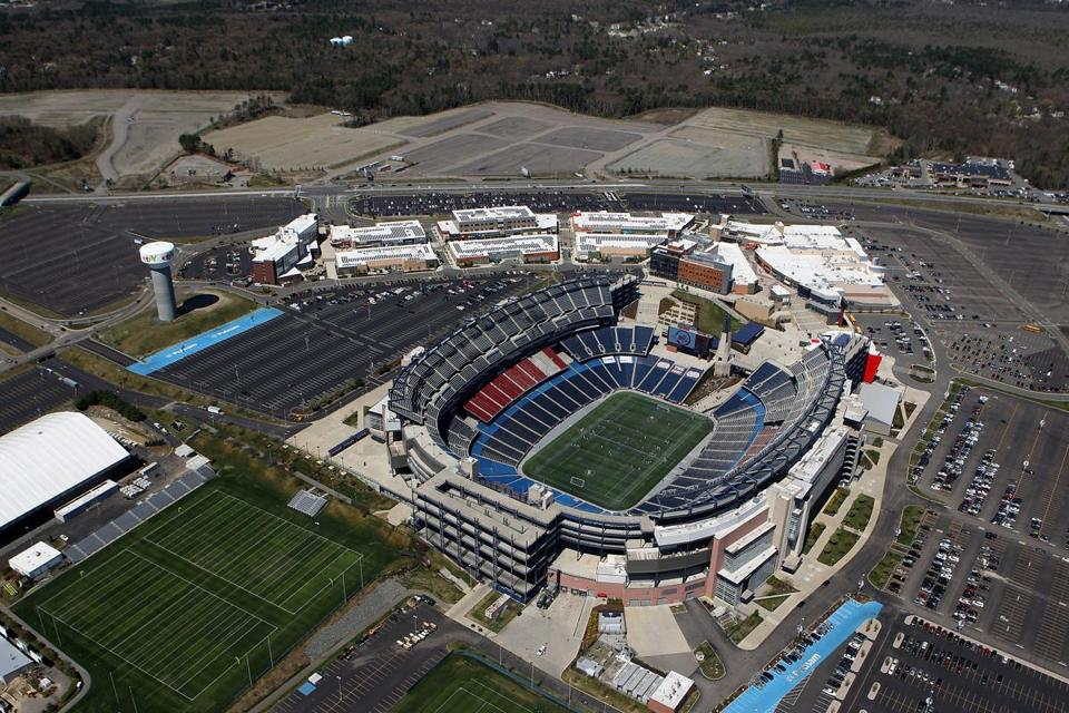 General manager Brian Earley says Patriot Place mall near Gillette Stadium has led to fewer police calls than expected.