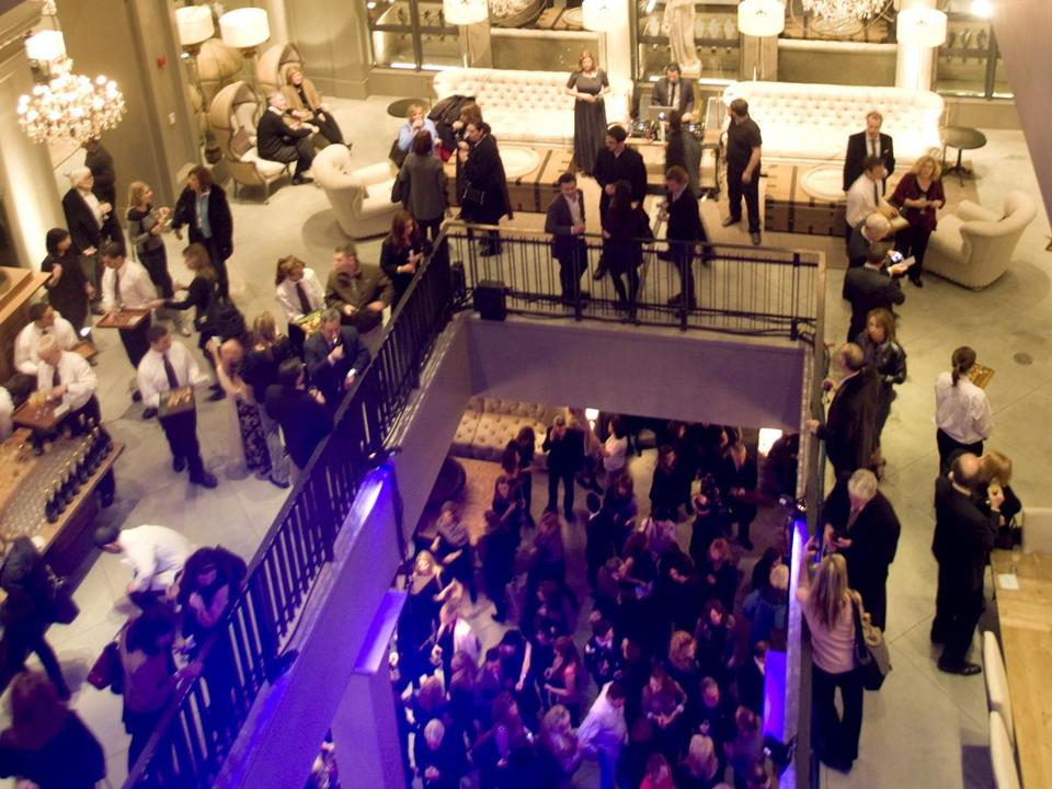 Partygoers at the swank event.