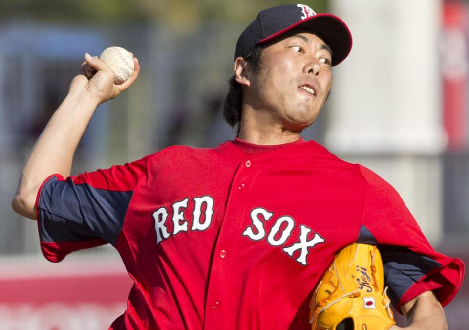 Reliever Koji Uehara has happily embraced his new team and mates.