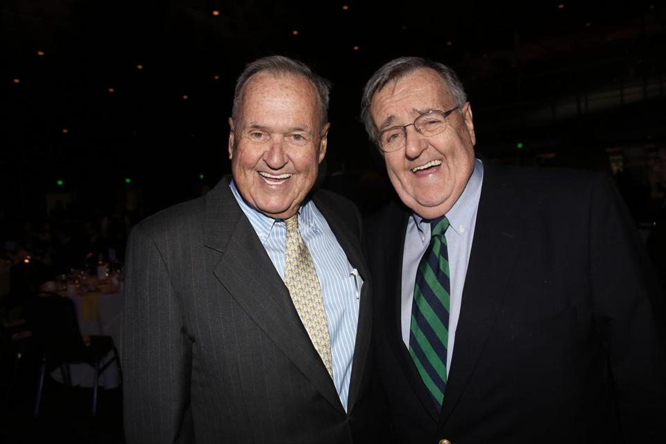 Tom (left) and Mark Shields at the Tufts Medical Center benefit.