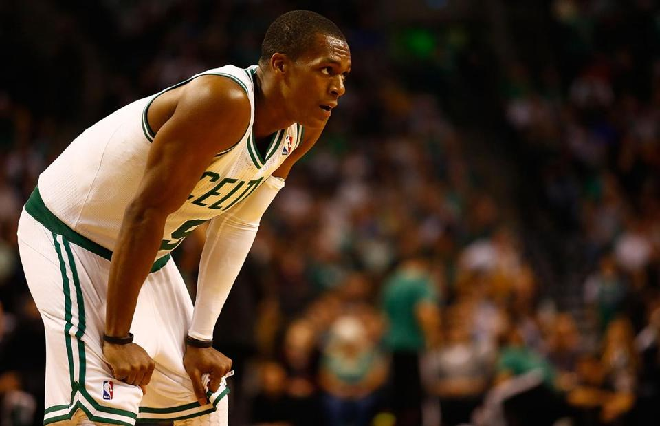 Rajon Rondo was lost for the season to a knee injury.