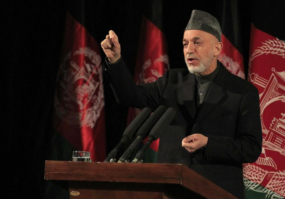 Sharp words: President Hamid Karzai accused the United States of trying to keep Afghanistan unsteady to justify a continued US military presence.