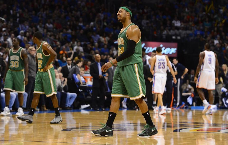Paul Pierce and the Celtics were disappointed in a loss at Oklahoma City.