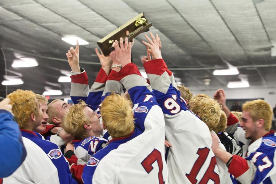 It was all for one for the Swampscott hockey team, which raised the Division 3 North championship trophy.