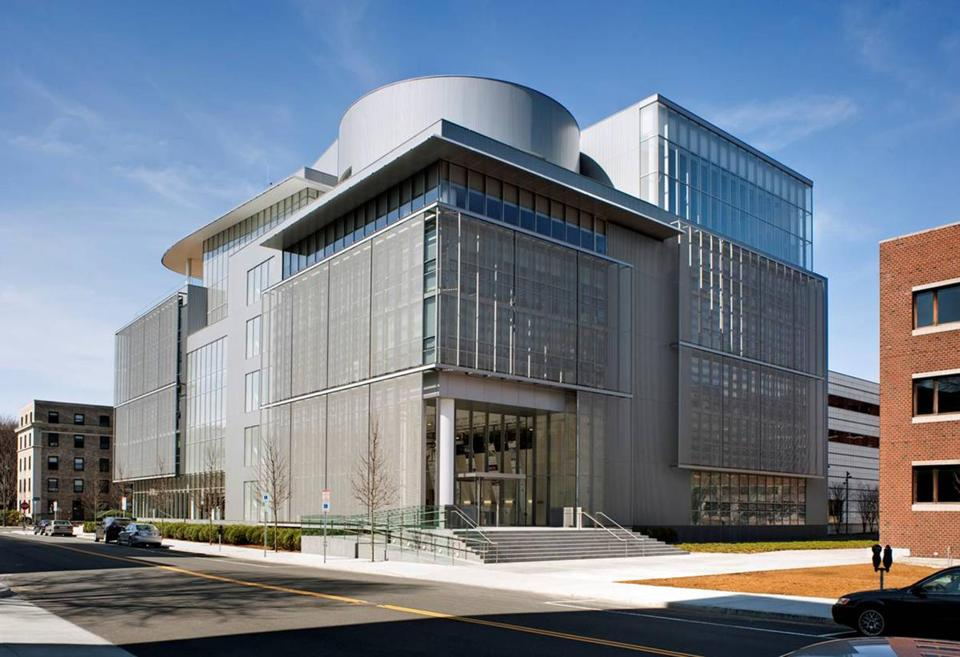 The MIT Media Lab, designed by Maki Associates of Tokyo in association with the Boston firm of Leers Weinzapfel.