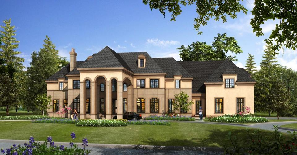 A rendering of the house Cindy Stumpo plans to build in Brookline.
