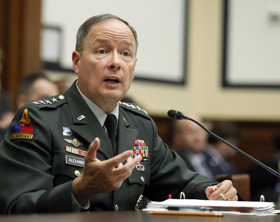 General Keith Alexander, the top officer at US Cyber Command, said that more aggressive steps need to be taken to improve digital defenses against ''low-level harassment of private and public websites, property, and information.""