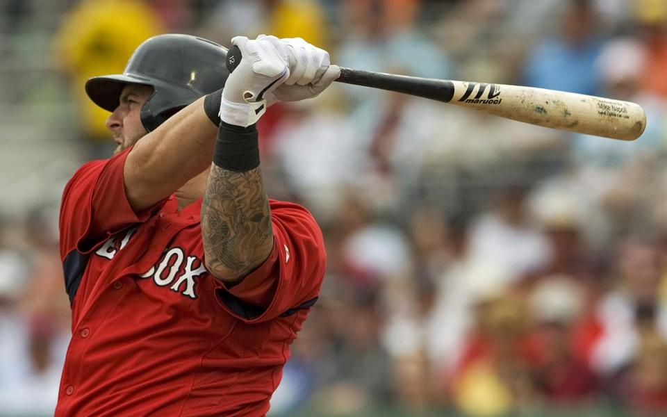 Mike Napoli continued to play well in spring camp, rapping out an RBI single in the third inning of Tuesday's victory.