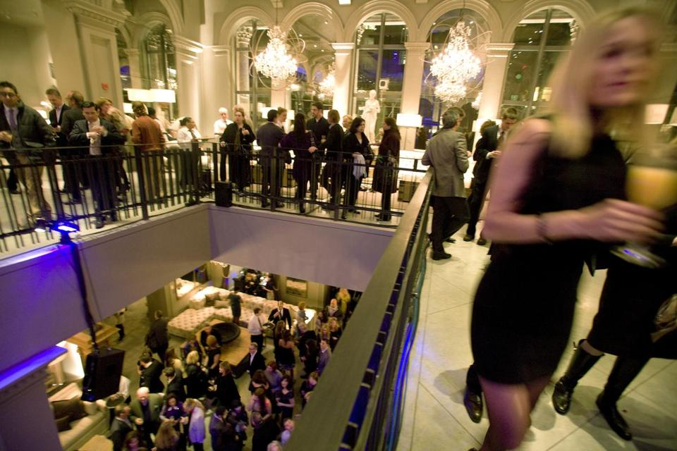The opening party of the Restoration Hardware on March 6.