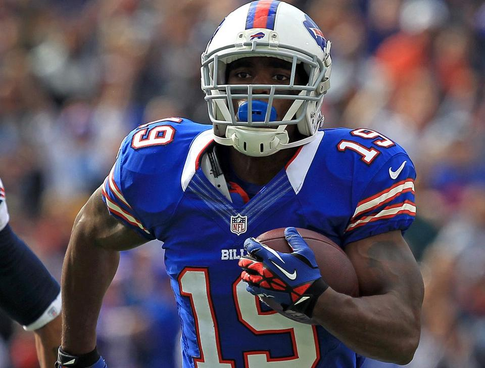 Donald Jones had 41 catches for 443 yards with the Bills in 2012.