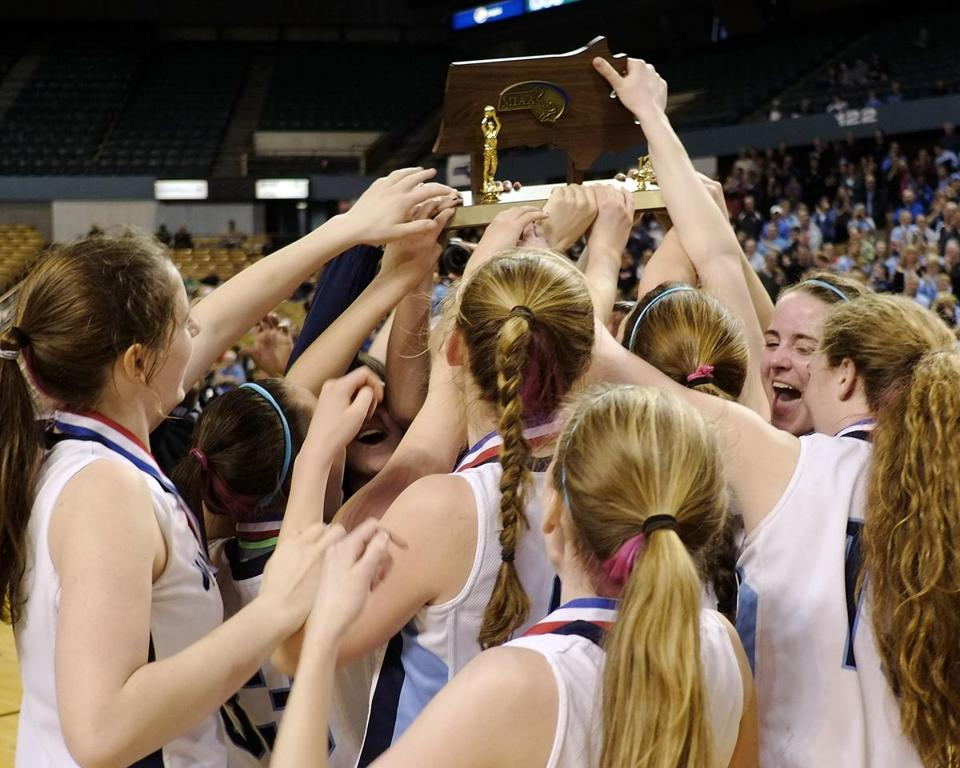 The Medfield girls finally reached the top, and they held the Division 2 state trophy aloft after defeating Nashoba.