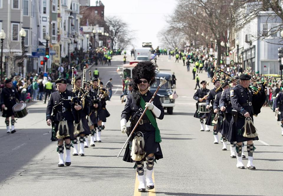 The 2013 edition of Boston's St. Patrick's Day Parade.