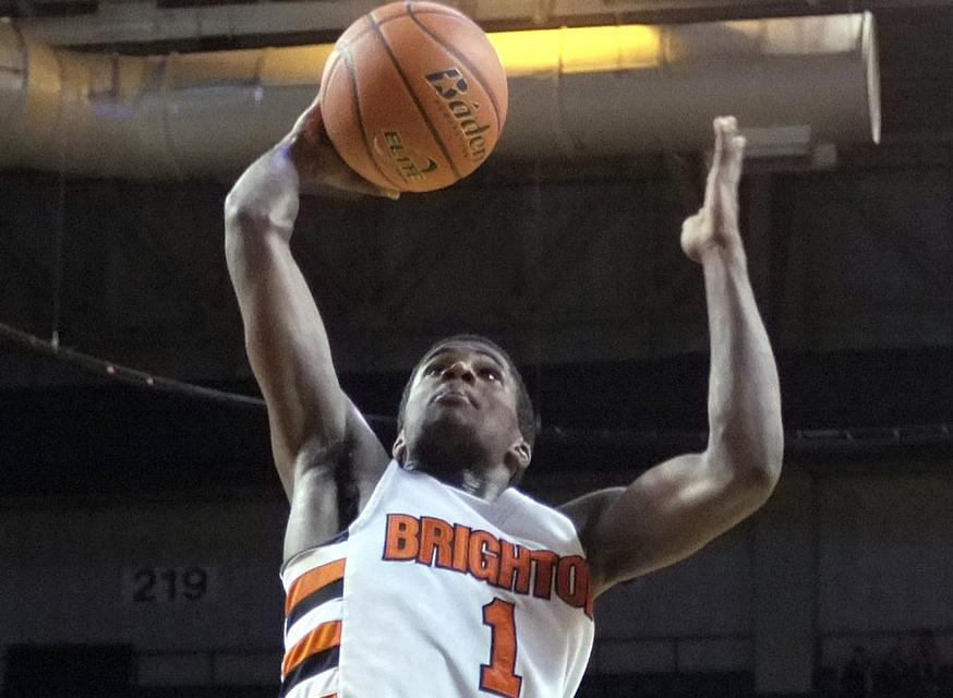 Malik James scored 8 of his 16 points in a dominant second quarter for Brighton.