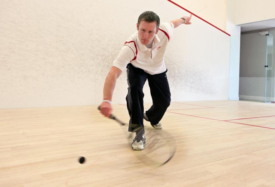 It helps to move the ball around and tire your opponent out, says Paul Mathieson, the head squash pro at Dover Squash and Fitness in Natick.
